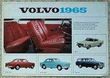 VOLVO 1965 121 122S 1800S Car Sales Specification Leaflet Sept 1964 #RK 1605