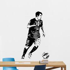 Lionel Messi Wall Decal Football Vinyl Sticker Kids Soccer Art Decor Mural 12nnn