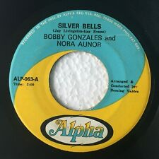 """NORA AUNOR BOBBY GONZALES Silver Bells b/w Whispering Hope PHILIPPINES OPM 7"""""""
