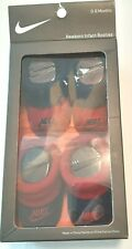 New 2 pair sealed babies Nike baby booties shoes 0-6 Months red BLACK