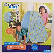 Kids Pop Up Tent Discovery Kids Woodland Friends 23x23x36 Indoor Outdoor Age 4