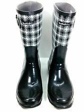 Windriver Black Plaid Rubber Boots Size 11 US.