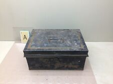 Antique Black Metal Cash Box