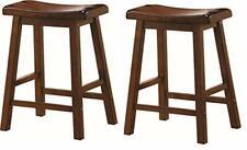 "New listing Coaster Wooden Counter Stools Chestnut Set of 2 24"" Walnut"