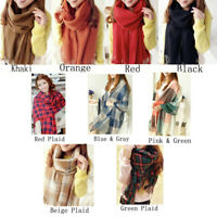 Womens Long Winter Warm Soft Wool Blend Scarf Shawl Pashmina USA