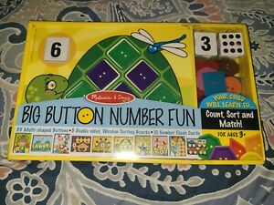 Melissa & Doug Big Button Number Fun NEW