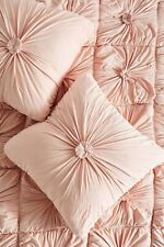 Anthropologie ROSETTE Lazybones Euro Shams In Pink cotton jersey