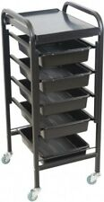 New Beauty Trolley Utility Salon Cabinet Cart Black High 5 Tiers Free DeliveryAU