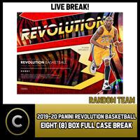 2019-20 PANINI REVOLUTION BASKETBALL 8 BOX FULL CASE BREAK #B281 - RANDOM TEAMS