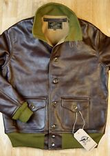 Aero A-1 Military Flight Jacket size 42 Seal Vicenza Horsehide Leather Jacket