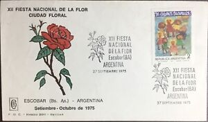Argentina 1975 Flower Festival First Day Cover