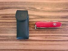 Victorinox Handyman Swiss 91mm Army Knife w/Leather Sheath Great Condition! 008x