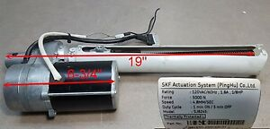 SKF Actuation System (PingHu) Motor Type SJ8245, P/N G6183-230X400-01,120VAC, 4.