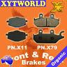 FRONT REAR Brake Pads for Yamaha XT 600 E 1992-2003