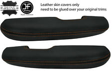 BROWN STITCH 2X DOOR HANDLE ARMREST LEATHER COVERS FITS FORD MUSTANG 1967-1968