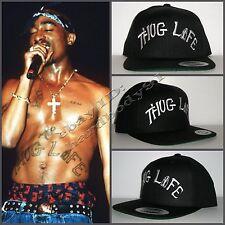 2Pac Tupac Thug Life Tattoo Replica Black Snapback Cap Hat NWA Eazy E Compton