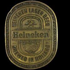 Vintage Heineken Lager Beer Dutch Holland Brewery Bar Drinker Gift Belt Buckle