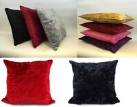 Crushed Velvet Cushion Covers Luxury Plush Plain 18' X 18' 24' X 24' 30X30