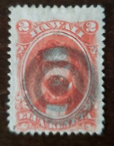Hawaii stamp #31 2 cents used hinged.