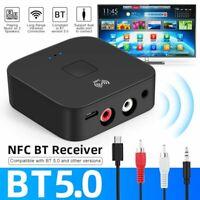Bluetooth 5.0 Wireless NFC Receiver 3.5mm Jack Car AUX Audio Adapter Handsfree