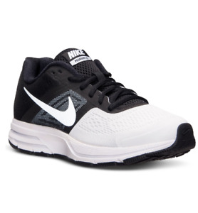 NEW Nike Men's Air Pegasus+ 30 Black White Sz 8.5 US 42 EUR 599205 Running Shoes