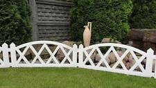 Plastic Garden Fence Panels Boarder Lawn Palisade Edge Patio Fencing WHITE BJNEW