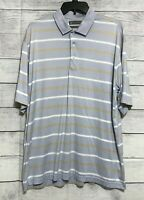 Daniel Cremieux Signature Collection Men's Striped Polo Golf Shirt Size Large L