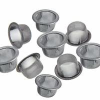 10Pcs Crystal Tobacco Smoking Pipe Metal Filter Screen Steel Mesh Concave Bowl