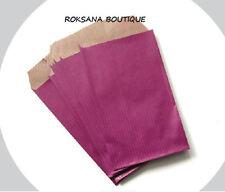 50 Pochettes cadeau sachets papier kraft bijoux emballage pivoine 7x13 cm