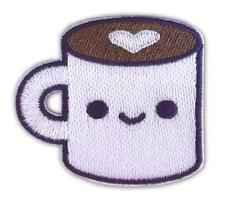 COFFEE LUV STICKER STICKY ADHESIVE BACKING PATCH BY 100% SOFT