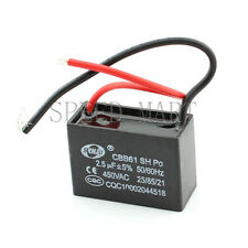 CBB61 AC450V 2.5uF Air Conditioner Electric Fan Run Start Capacitor 2-wired