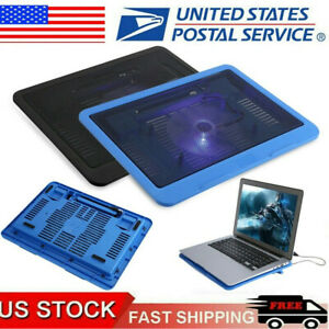 """Universal USB Laptop Cooling Fan Cooler Pad Base Stand For 14"""" Notebook Computer"""
