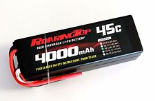 RoaringTop LiPo Battery Pack 45C 4000mAh 4S1P 14.8V HardCase with Leads Out