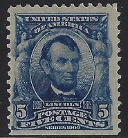 US Stamps - Scott # 304 - 5c Lincoln - Mint OG Hinged                   (L-1055)