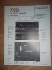 Kenwood Service Manual~A-E5/E5L Receiver~UD-502/552 System~Original~Repair