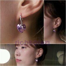 925 sterling silver earrings fashion Purple Heart item for women free shipping