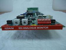 SNELL & WILCOX IQDAVM SDI DA & ANALOG AUDIO/VIDEO MONITOR CARD WITH REAR MODULE
