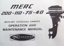 Mercury Merc Outboard Owners Manual 1980's - 4 to 20 HP