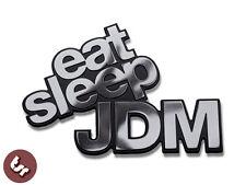 Metal Badge Eat Sleep JDM/VW/Drift/Euro/Dub CNC Billet Car Emblem VAG/illest