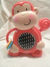 """2011 Fisher Price Activity Gym Monkey Musical Sensory Pull Handle 10"""" Toy"""