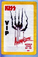 KISS ANIMALIZE WORLD TOUR 1984-85 VIP Backstage Pass UNUSED