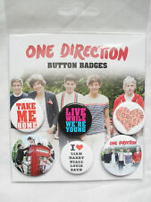 OFFICIAL ONE DIRECTION 1D BUTTON BADGE PACK OF SIX (4 X 25MM 2 X 32MM) 326