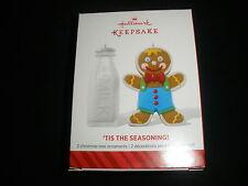 "2014 NIB! HALLMARK CHRISTMAS ORNAMENT, SET OF (2)"" 'TIS THE SEASON"" -T5809"