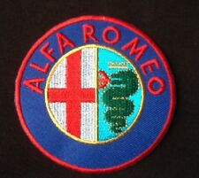 ALFA ROMEO CAR SPIDER MOTOR SPORTS RACING BADGE IRON SEW ON PATCH RED
