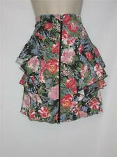 NWT Bluette Layered Skirt Floral Print w/ Zipper Accent 100% Viscose Size Small