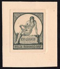 27)Nr.124- EXLIBRIS- Walter Prinzl  -  Erotik / erotic