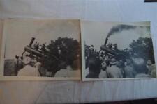Vintage Photos Big Steam Tractor Farm Engine Smoking Action 865