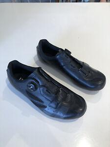 Lake CX176 Wide Fit Road Cycling Shoes EUR 44 Black