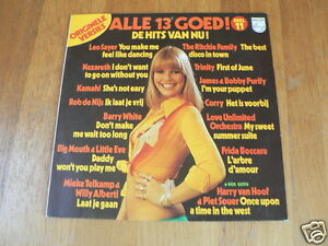 LP RECORD VINYL PIN-UP GIRL ALLE 13 GOED DEEL 11,SEXY NUDE  COVER CHEESECAKE A
