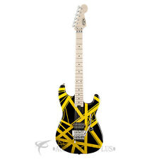 EVH Striped Series Black with Yellow Stripes Electric Guitar - 5107902528